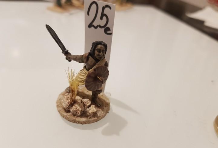 Soldado plomo guerrero tribu 35mm