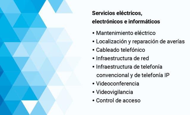 Electricidad de hogar. informático