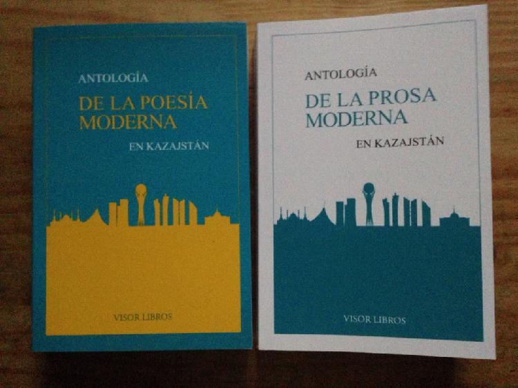 Lote 2 libros antología poesía / prosa kazajstán