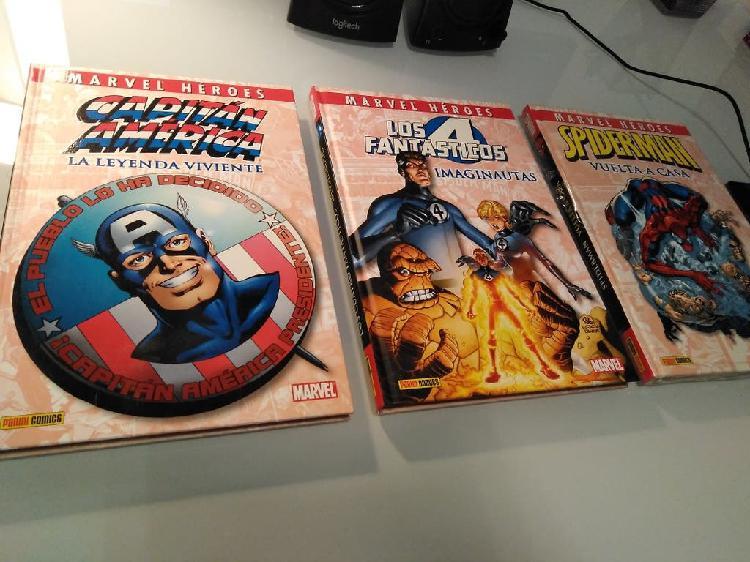 Marvel héroes spiderman cap américa 4 fantásticos