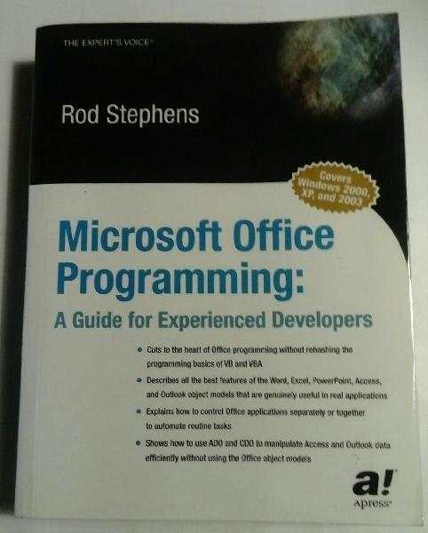 Microsoft office programming ( vba)