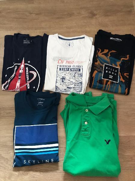 Pack 5 camisetas sport varias marcas oferta