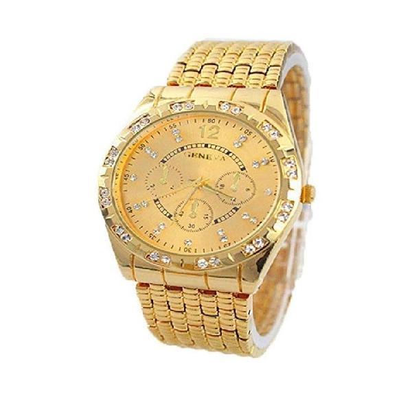 Reloj hombre chapado en oro 24k...