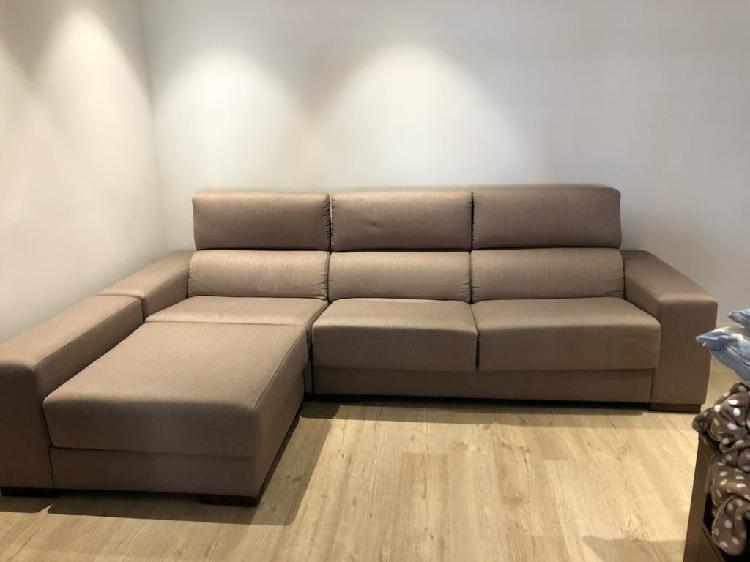 Sofá 2,85 largo x 99 cm con chaise longue 1,80