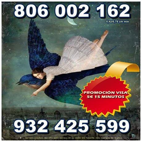 Tarot oferta visa 5€ 15 min. línea 806 por sólo 0,42 cm.