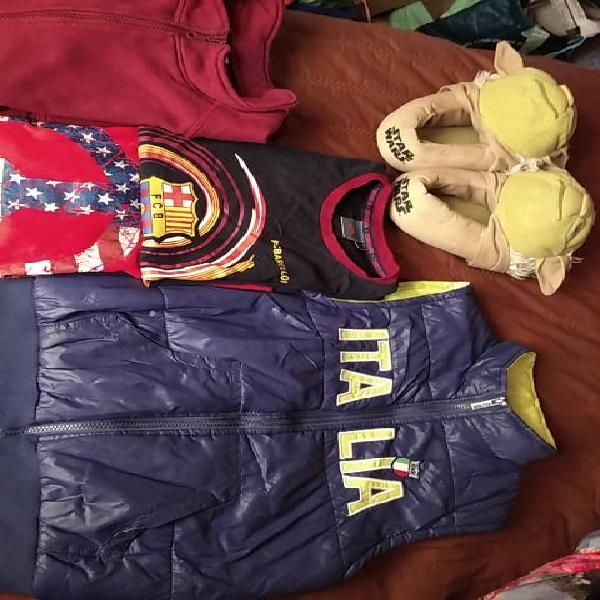 Lote ropa 10-12a + regalo zapatilla star wars