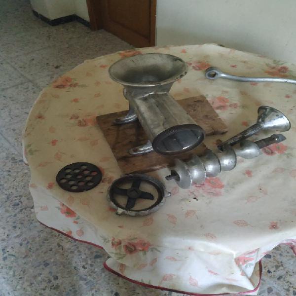 Máquina manual de picar carne y hacer chorizos