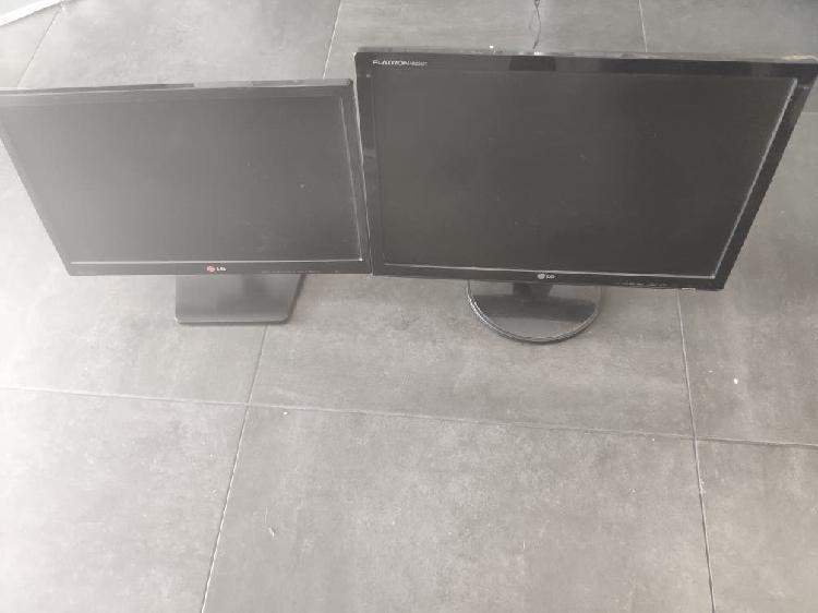 2 pantallas lg de ordenador