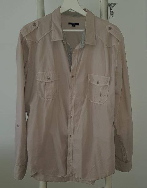 Camisa color crema talla xxl
