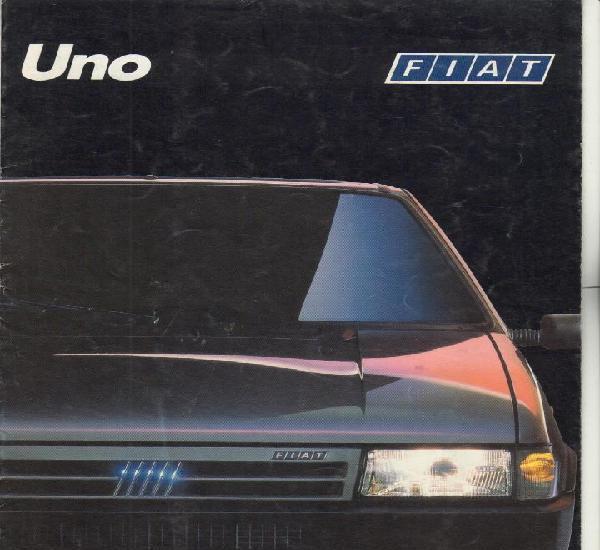 Catalogo fiat uno; diferentes versiones; 1989, desplegable