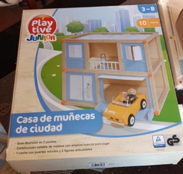 Casa de muñecas de ciudad.
