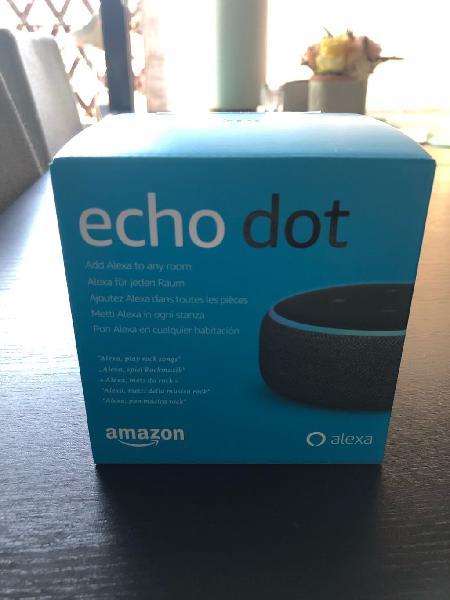 Echo dot tercera generación nuevo. color antracita