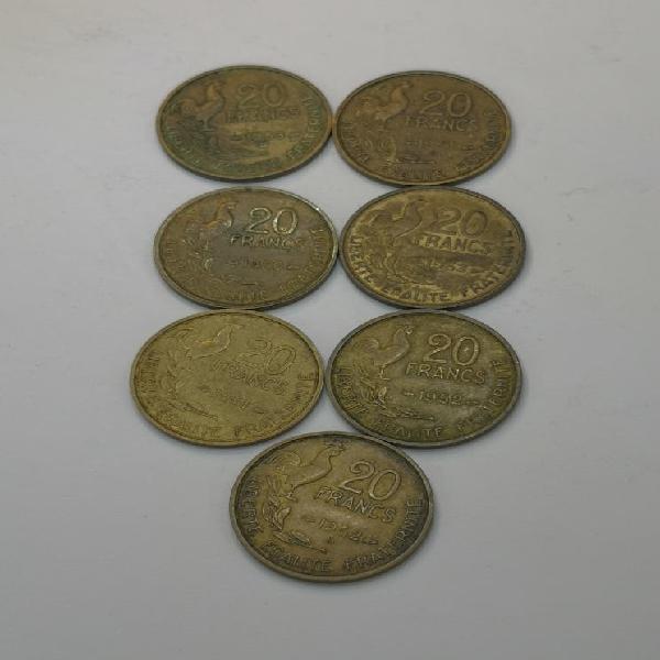 Francia. 20 francos. 4° rep.