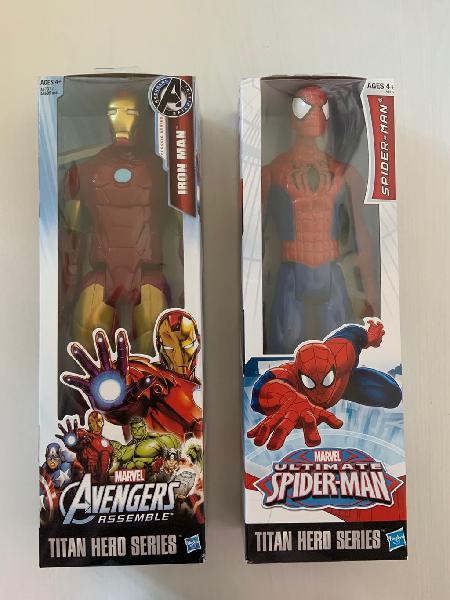 Figura spiderman y ironman vengadores