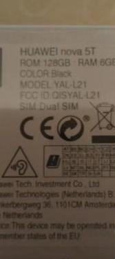 Huawei nova 5t negro precintado altavoces