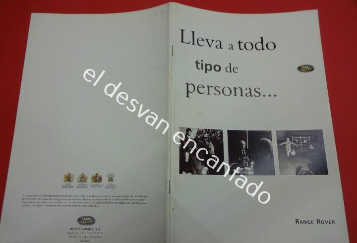 Land rover. range rover. catálogo en español. año 1994