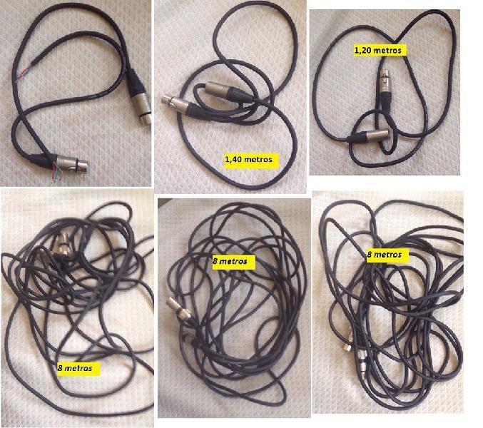 Lote cables de sonido profesionales