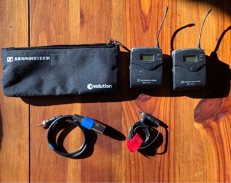 Micrófono inalámbrico sennheiser g3 kit completo