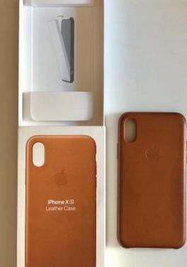 Nueva funda leather case iphonexs-marrón