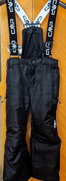 Niños pantalón esquí cmp - 110 talla - negro