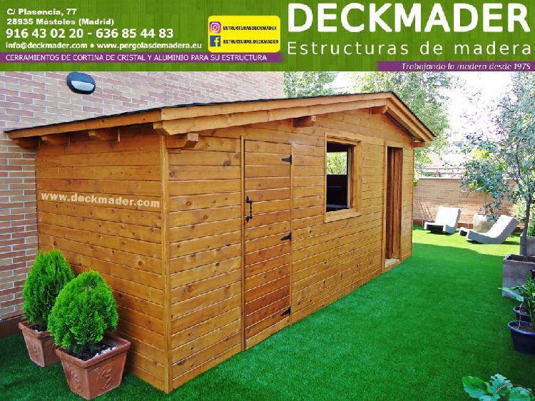 Nueva caseta para jardín en madera