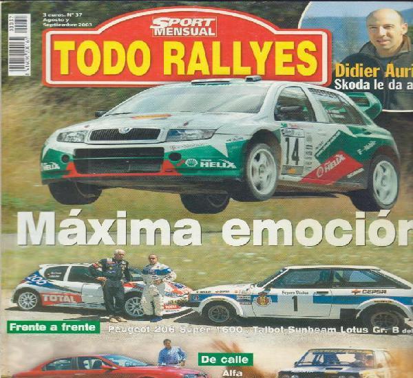 Revista todo rallyes nº37 agosto y septiembre 2003