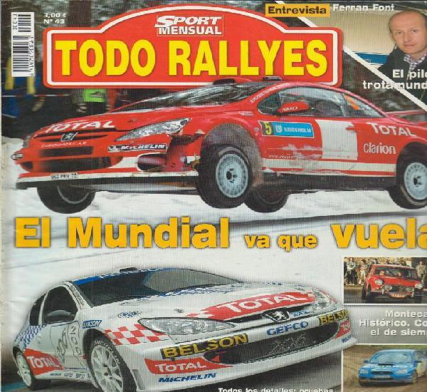 Revista todo rallyes nº43 marzo 2004