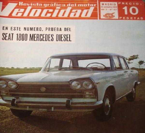 Revista velocidad 427 seat 1500 1800 mercedes diesel