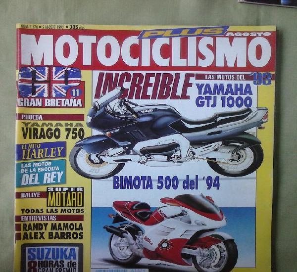 Revista motociclismo nº 1276 - 5 agosto 1992