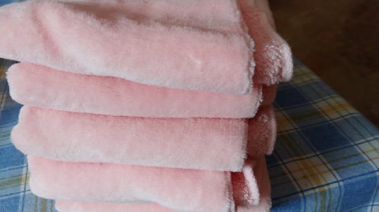 Toallas color rosa