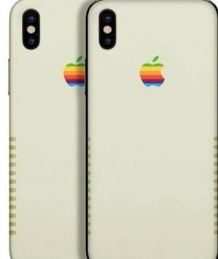 Vinilo / skin retro apple iphone x