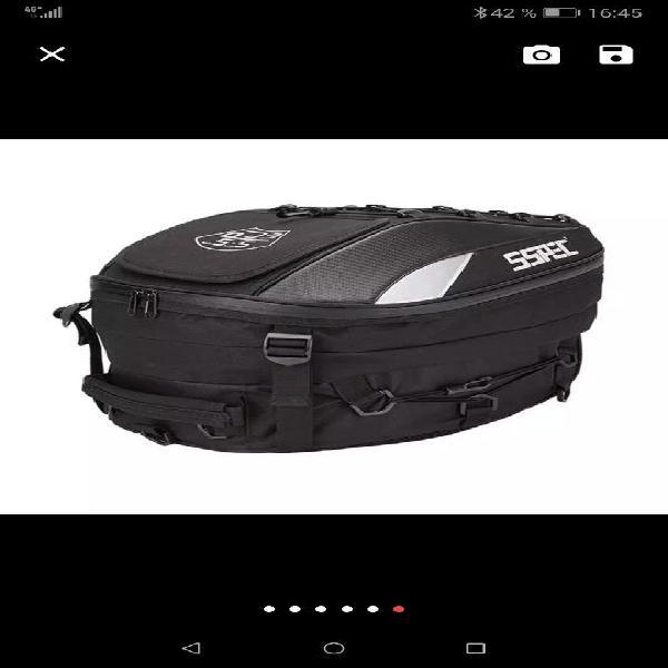 Bolsa mochila asiento trasero moto cordura