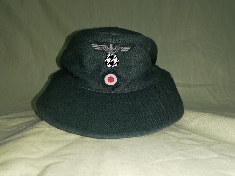 Gorra alemana tela hbt segunda guerra mundial