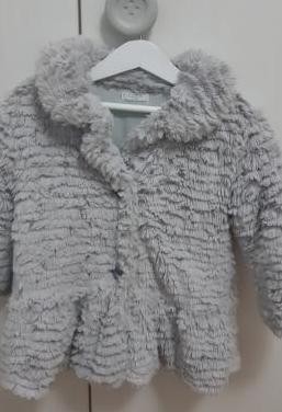 Abrigo niña pelo gris