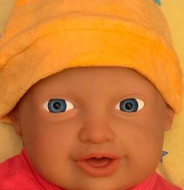 Bebé reborn de silicona.
