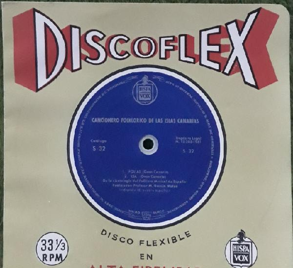 Disco flexible cancionero folklórico de las islas canarias