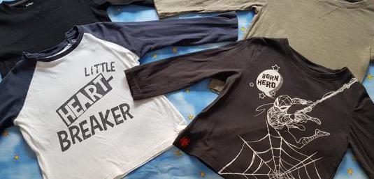 Lote 4 camisetas bebé 2-3 años