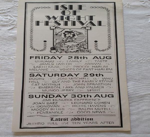 Original handbill- flyer del festival celebrado en la isla