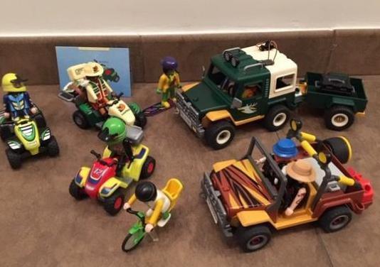 Playmobil set 4x4 safari cazador 3 quads