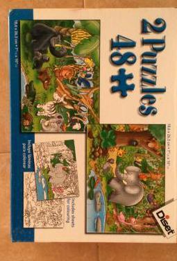 Puzzles de 48 piezas.