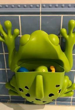 Recoge juguetes bañera rana