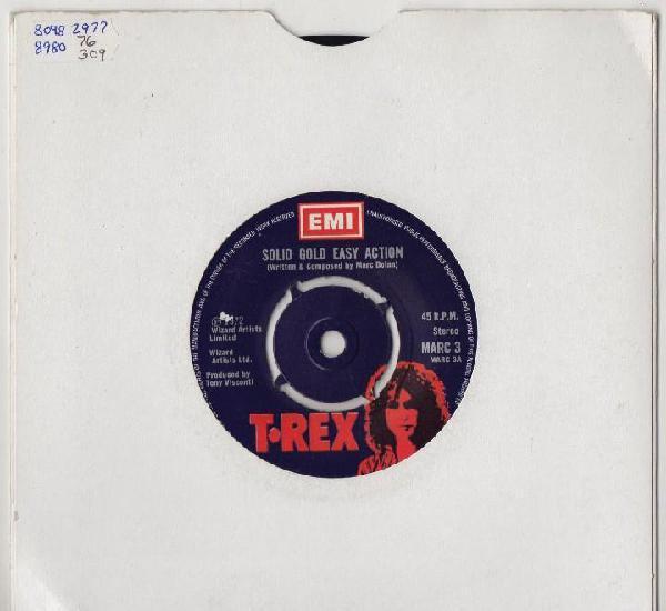 T.rex solid gold easy action 1972 original uk single marc 3