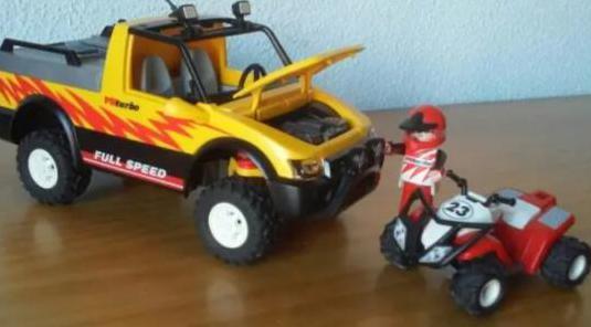 Todoterreno con quad, playmobil 4228