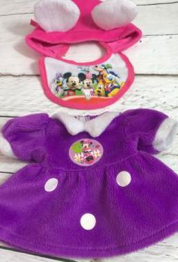 Vestido minnie para muñeca de 33-35 cm