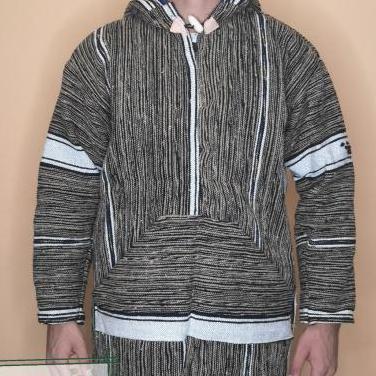 Abrigo de lana hippie