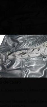 Abrigo piel negro massimo dutti