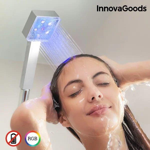 Alcachofa ducha con luces led