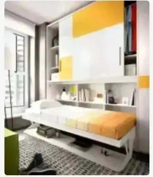 Cama abatible con armario y escritorio