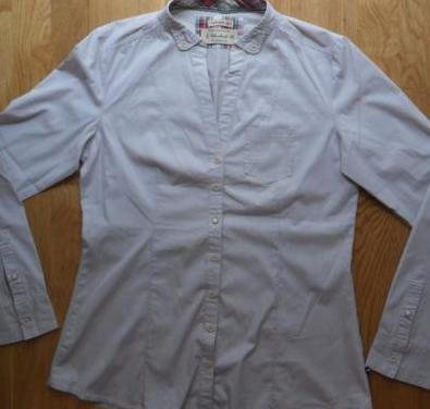 Camisa de líneas gris manga larga talla m