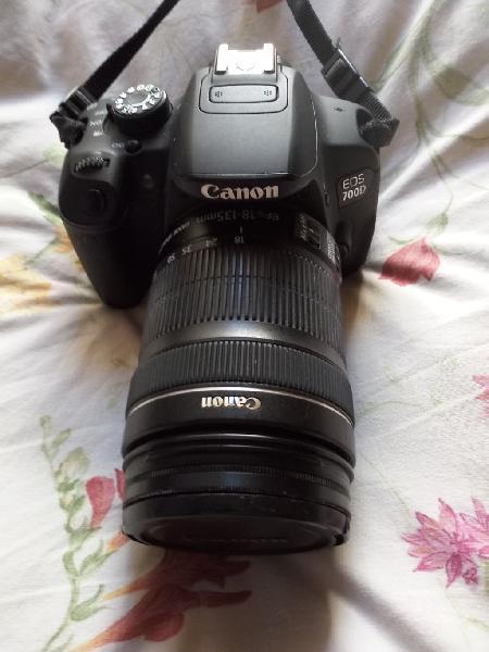 Canon eos 700d+objetivo efs 18-135mm (manual roto)